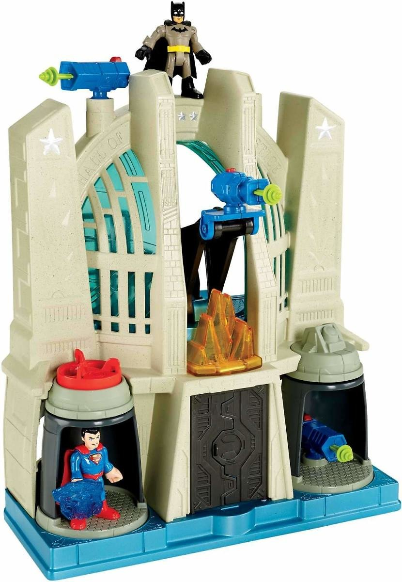 Fisher-Price Imaginext DC Super Friends Hall of Justice Playset: Toys & Games