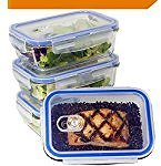 [5-Pack] Glass Meal Prep Containers - Food Prep Containers with Lids Meal Prep - Food Storage Containers Airtight - Lunch Containers Portion Control Containers - BPA Free Container [29 Ounce]: Kitchen & Dining