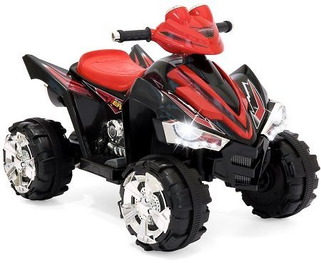 Kids Ride On ATV Quad 4 Wheeler 12V Battery Power Electric Power Led Lights (Red) + Free Shipping