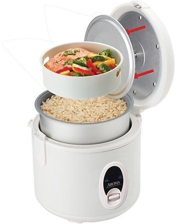Aroma 8-Cup Rice Cooker & Food Steamer (In-Store)