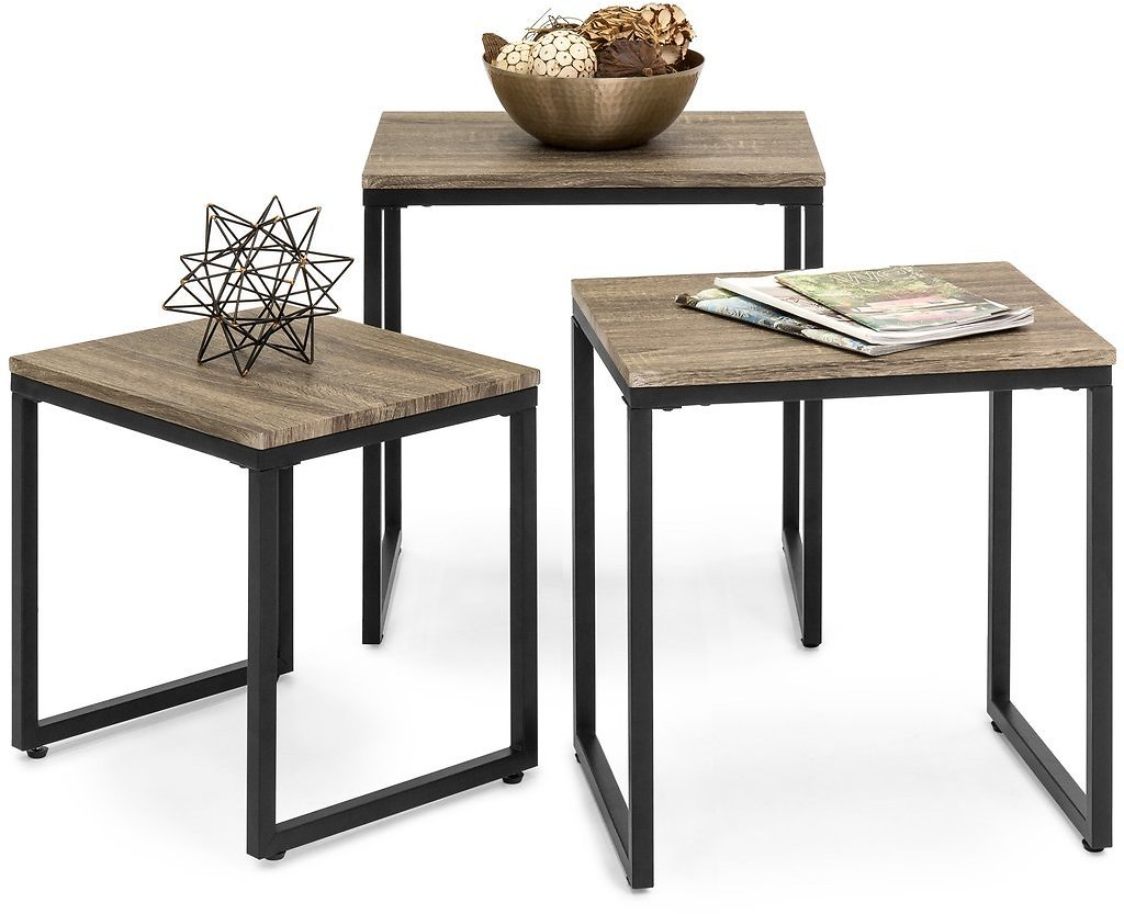 (Ships Free) 3-Piece Nesting Coffee End Table Set – Best Choice Products