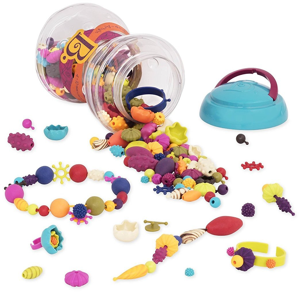 B. Pop Arty Crafts Toy Snap Beads for Jewelry Making (300 Pieces)