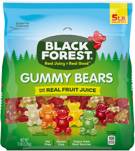 Black Forest Gummy Bears Candy (5-Lb)