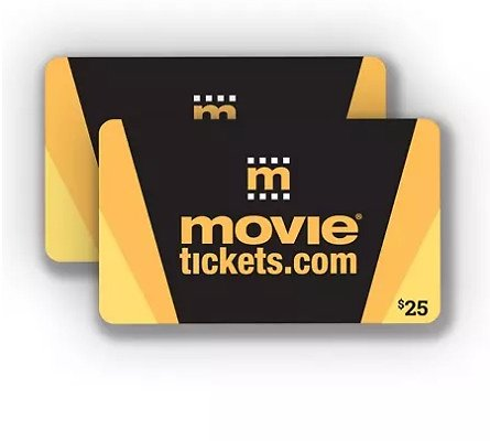 $50 MovieTickets.com Gift Cards for $37.50