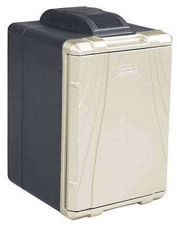 (Ships Free) Coleman 40-Quart PowerChill Thermoelectric Cooler with Power Cord, Black/Silver