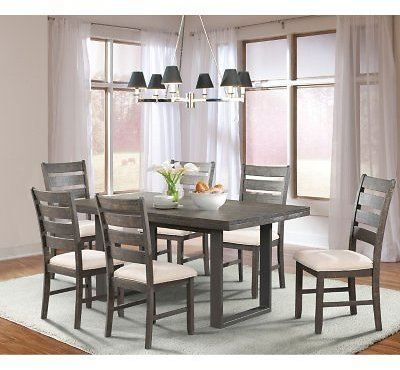 (Ships Free) Sullivan Dining Table and Side Chairs, 7-Piece Set