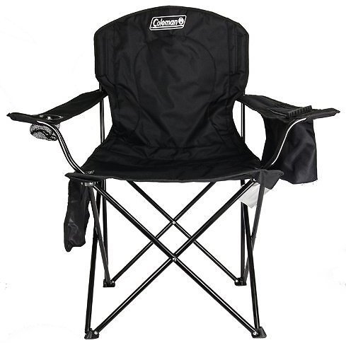 Coleman Cooler Quad Portable Camping Chair in Black