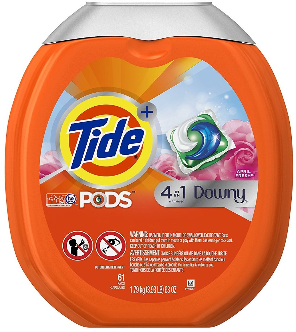 61-Ct Tide PODS + Downy Laundry Detergent Pacs