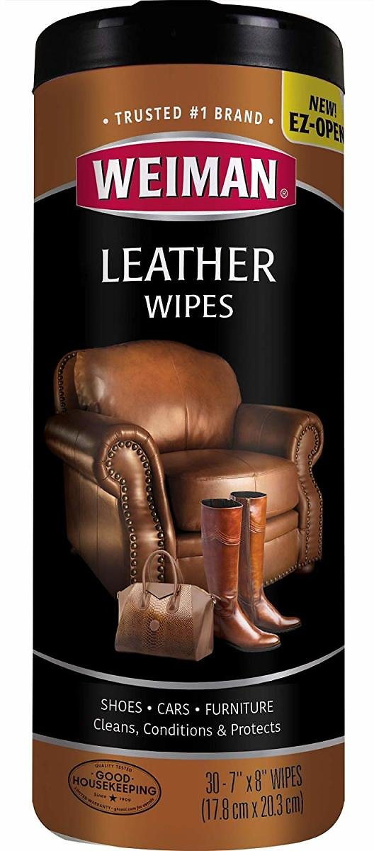 30-Count Weiman Leather Wipes