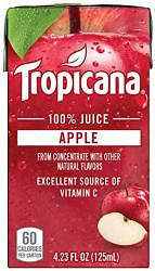 44-Count Tropicana 100% Juice Box Apple Juice