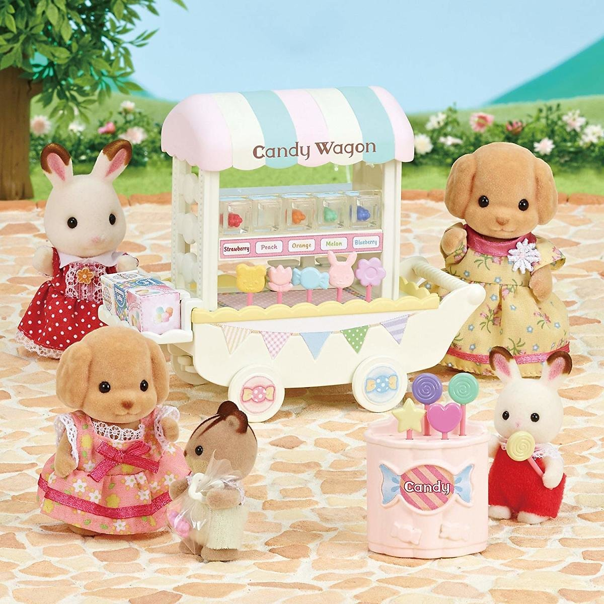 Calico Critters Candy Wagon