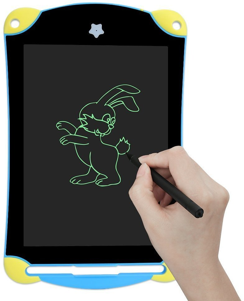 LCD Writing Tablet, 8.5 Inch Child Durable Handwriting Tablet Drawing Board Gift in School, House, Office, Car for Kids, Designer, Teacher, Student Carry Easily Built-in Button Battery (Blue)
