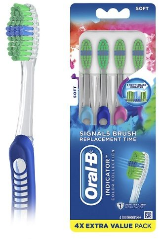 4-Count Oral-B Contour Toothbrush