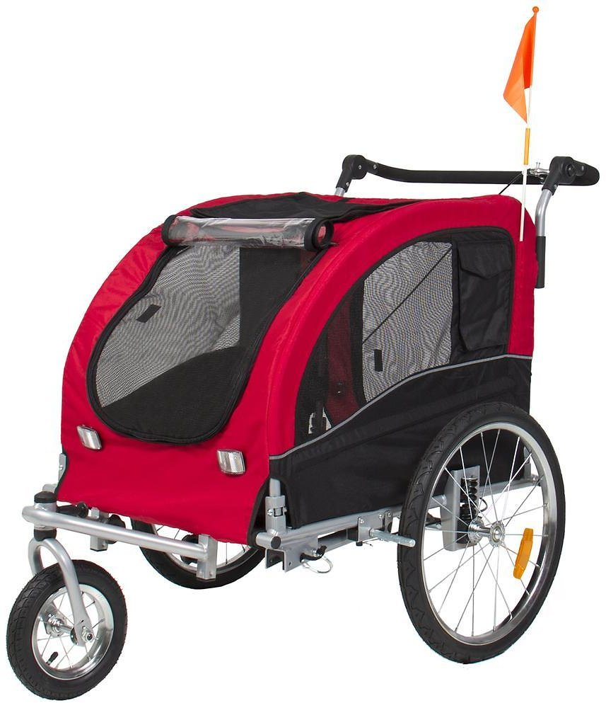 Best Choice Products : 2-in-1 Pet Stroller and Trailer