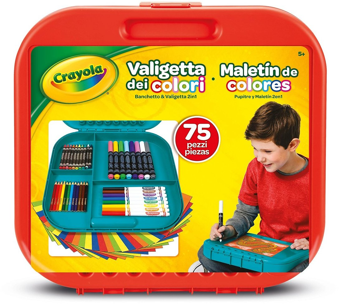 Crayola Create 'N Carry Art Set, 75 Pieces, Art Gift for Kids