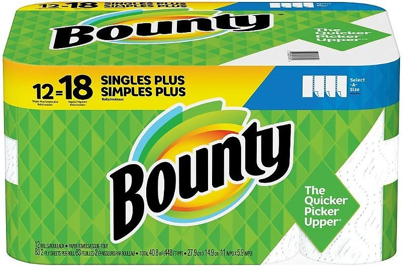 12-Pack Bounty Select-A-Size Paper Towels