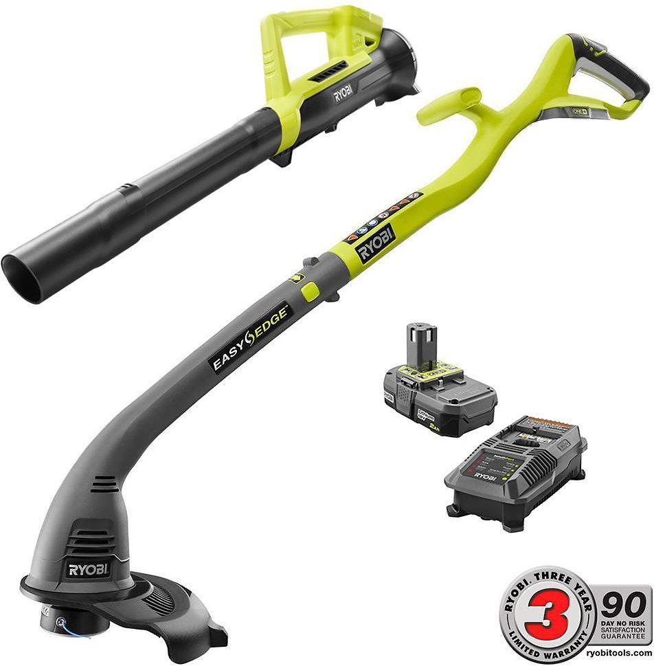 Ryobi ONE+ 18-Volt Lithium-Ion String Trimmer/Edger and Blower Combo Kit