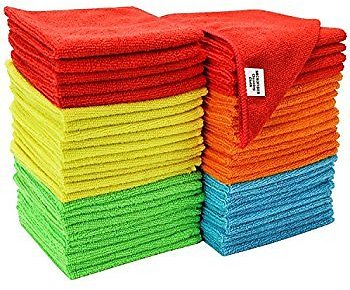 50-Count S&T Bulk Microfiber Cleaning Cloth (11.5
