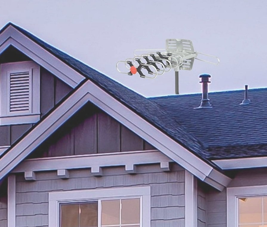 ViewTV Outdoor Amplified Antenna with Adjustable Antenna Mount