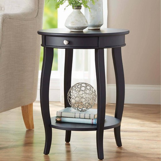 Better Homes & Gardens Round Accent Table w/ Drawer