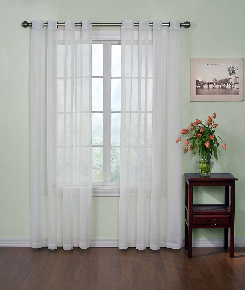59x108 Arm and Hammer Odor Neutralizing Sheer Curtain