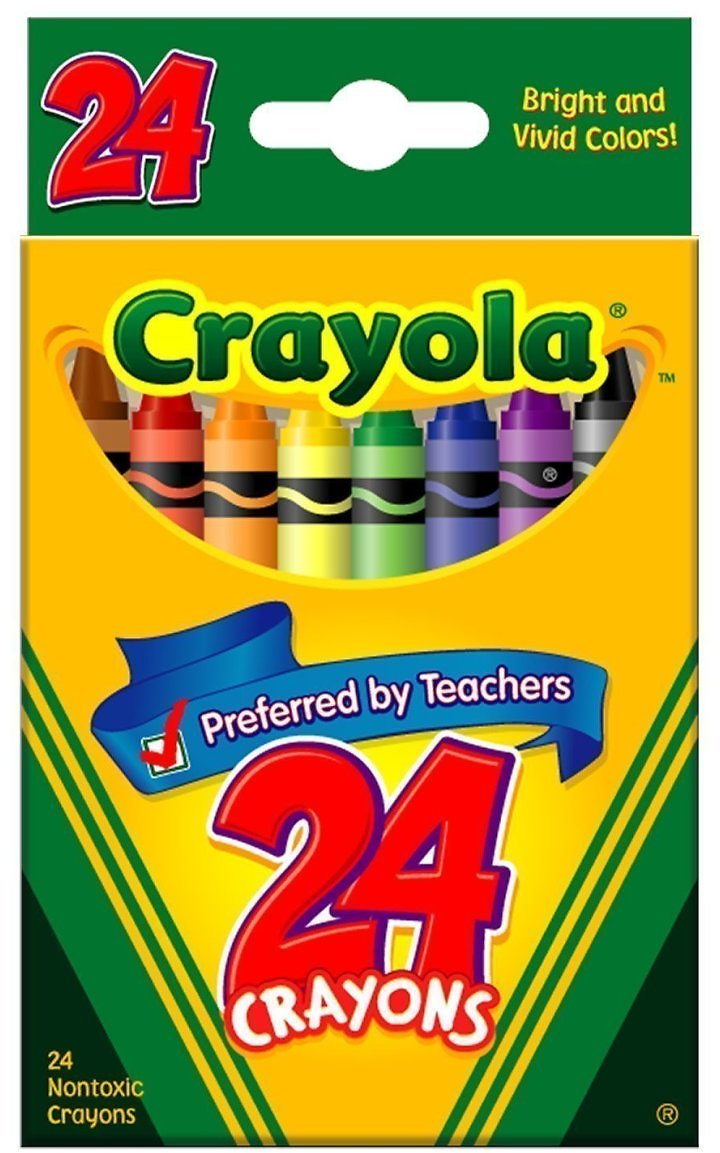 3 for 99¢ Crayola 24-Pack Crayon Assorted Boxes