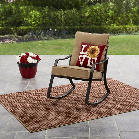 Mainstays Forest Hills Outdoor Rocking Chair (3 Colors)