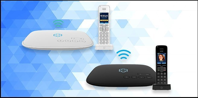 Ooma VoIP Telo Air 2 with HD3 Handset Home Phone Service (2 Colors)