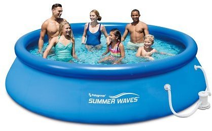 Summer Waves Quick Set Above Ground Swimming Pool w/ Filter Pump System
