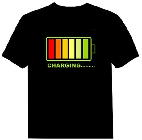 Unisex Cell Audio-controlled Luminescent Music T-shirt
