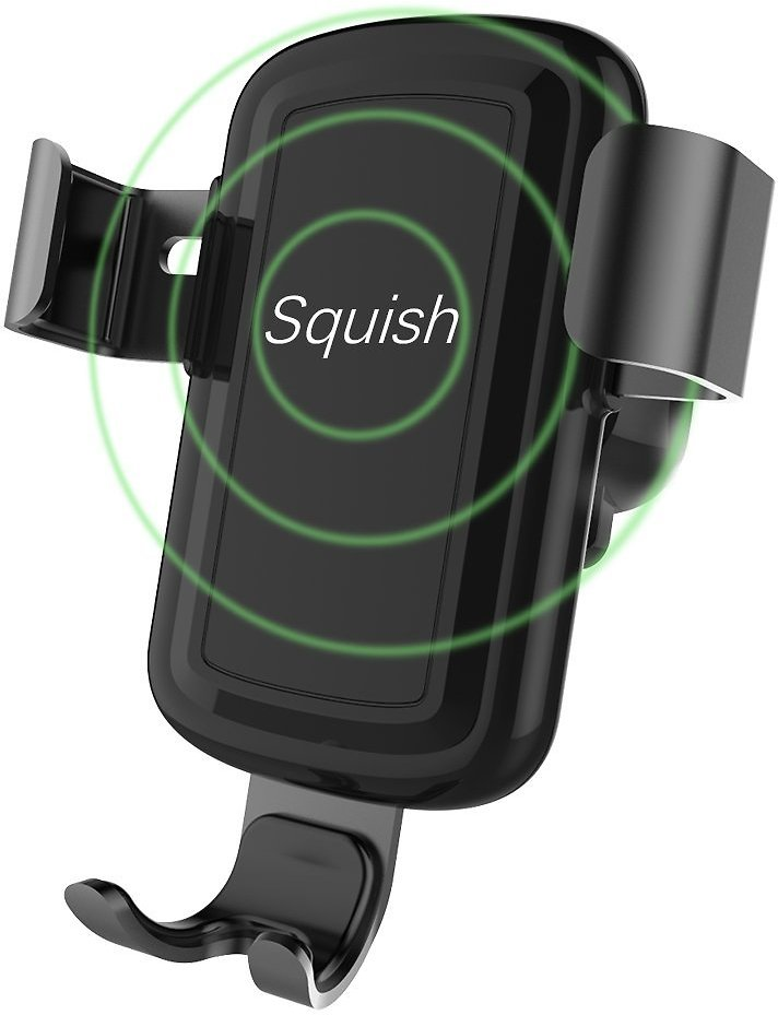 Squish Wireless Charger Car Mount Adjustable Gravity Air Vent Phone Holder for iPhone Samsung Nexus Moto OnePlus HTC Sony Nokia