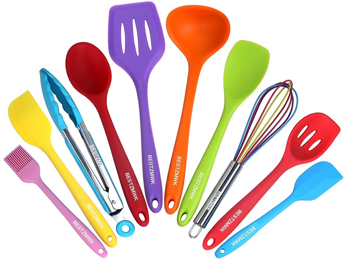 Silicone KSilicone Cooking Utensils Colorful 10 Piece