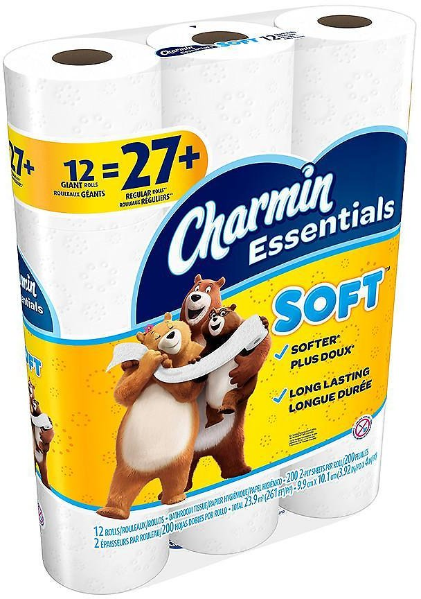 12-Pack Charmin Giant Rolls Bath Tissue Only $3.74!