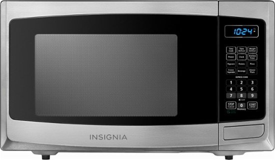 Insignia™ - 0.9 Cu. Ft. Compact Microwave - Stainless steel