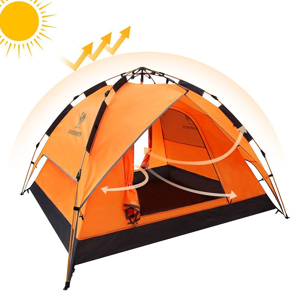 Camel Fourth-generation Automatic Hydraulic Tent for 2-3 Person Outdoor Waterproof Camping