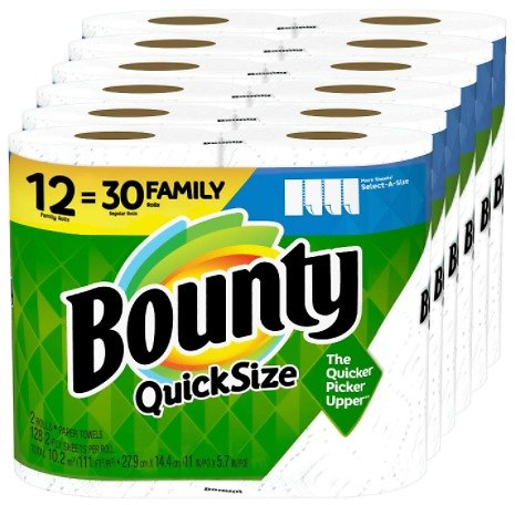 Bounty Quick-Size Paper Towels (12-Pack)