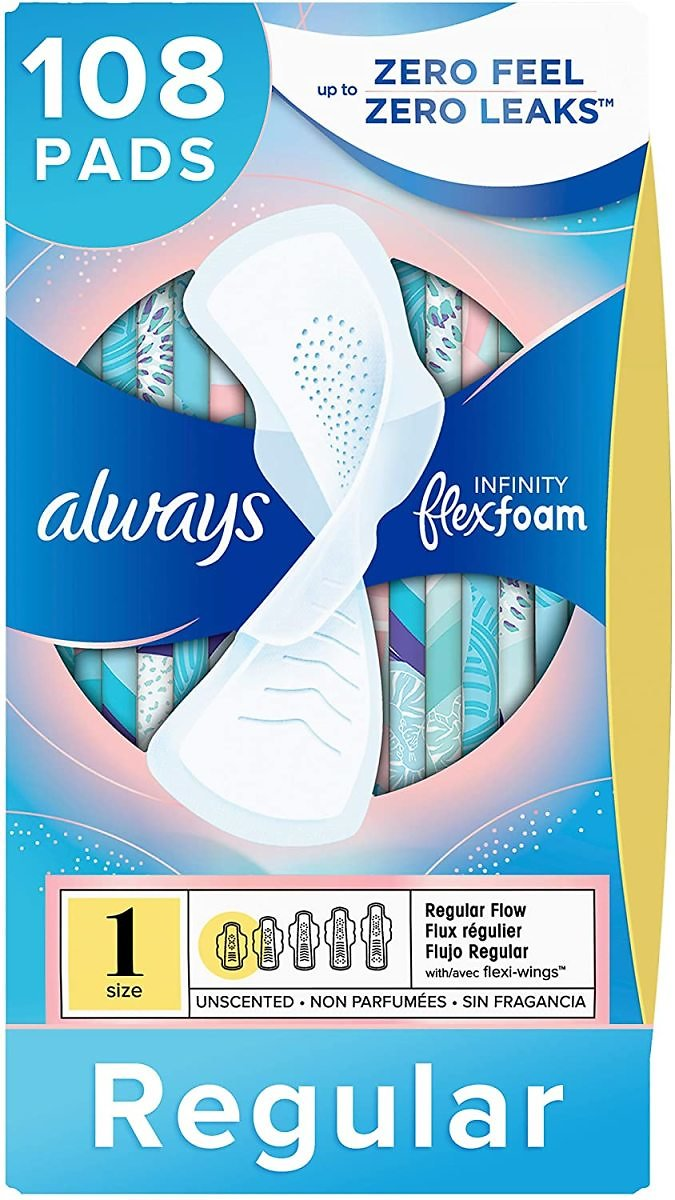 108-Count Always Infinity Feminine Pads