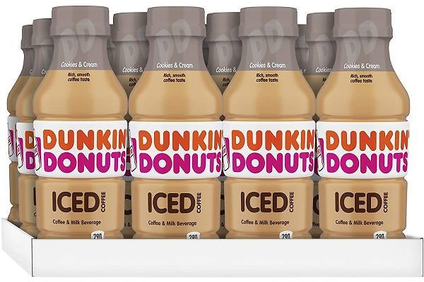 12 Pack of Dunkin' Donuts Iced Coffee, Cookies and Cream, 13.7 Fluid Ounce - Only About $2 Each Delivered! SHIPS FREE!