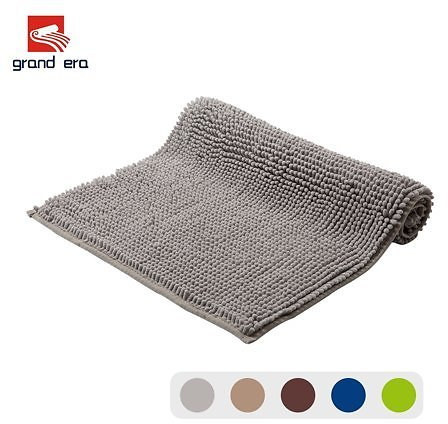 Grand Era Microfiber Shag Bathroom Mat Super Soft Chenille Bath Mat Water Absorbent Shower Mat Perfect for Bathroom, 20