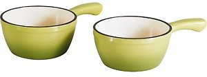 Better Homes and Gardens 2-Piece Cast Iron French Onion Soup Bowl (4 Color Choices)