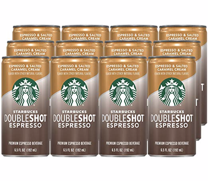 Starbucks Doubleshot Espresso, Salted Caramel, 12 Count, 6.5 Fl Oz Cans