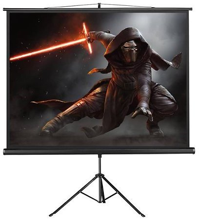 Portable Projector Screen Indoor/Outdoor Movie Theater Fast-Folding Projector Screen with Stand Legs for Projector, Movie, Home Theater, Classroom, Office, Camp