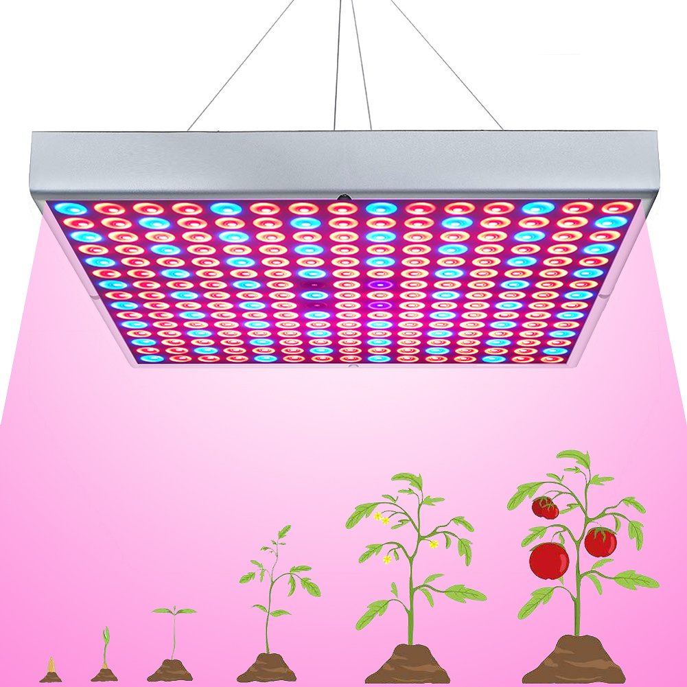 45W LED Grow Light for Indoor Plants Growing Lamp 225 LEDs UV IR Red Blue Full Spectrum Plant Lights Bulb Panel for Hydroponics