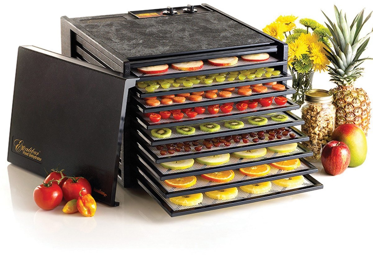 Excalibur 9-Tray Electric Food Dehydrator w/ Temperature Settings/26-Hr Timer