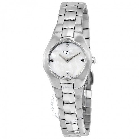 Tissot T-Round White Diamond Dial Stainless Steel Ladies Watch Item No. T096.009.11.116.00