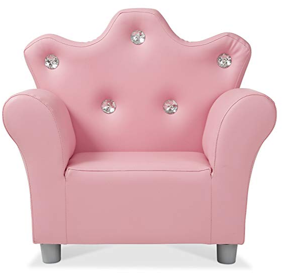 (Ships Free) Melissa & Doug Child's Crown Armchair - Pink Faux Leather Children's Furniture: Toys & Games