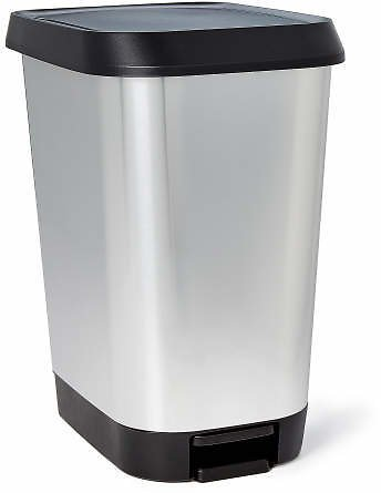 Stainless Steel Step-On Waste Can | Big Lots