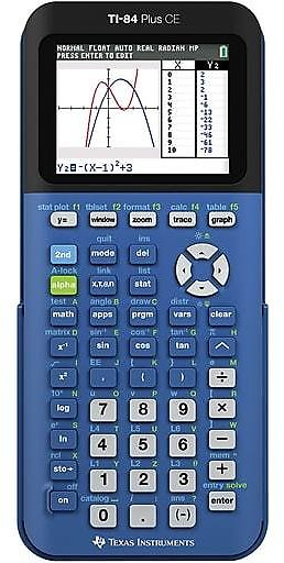 Today Deal: 21% Off Texas Instruments TI-84 CE Color Screen Graphing Calculator, Dark Blue