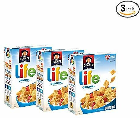 3-Pack of 13oz. Quaker Life Cereal (Original)