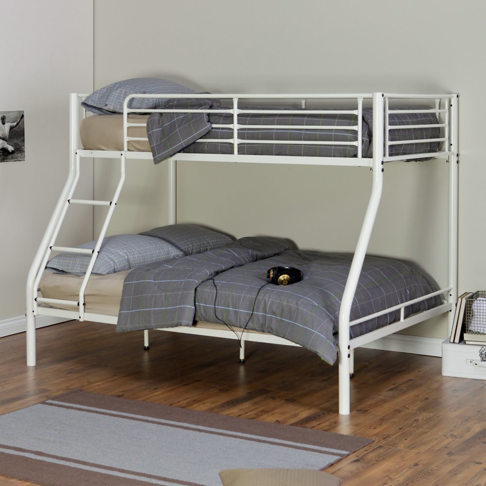 Hanley Twin Over Full Bunk Bed, White